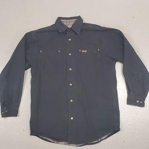 Carhartt black jacket medium plaid lining